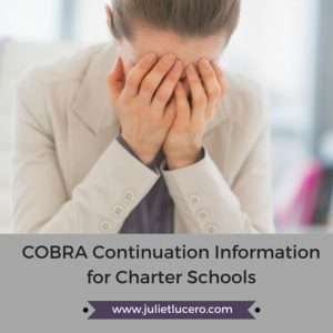 COBRA Continuation Information for Charter Schools